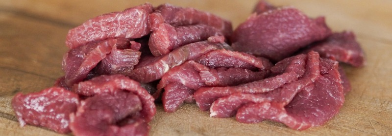 meat pieces for grinding